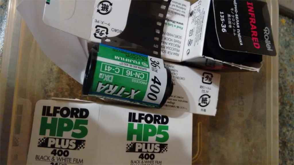 180 day film challenge -  picture of various 35mm films
