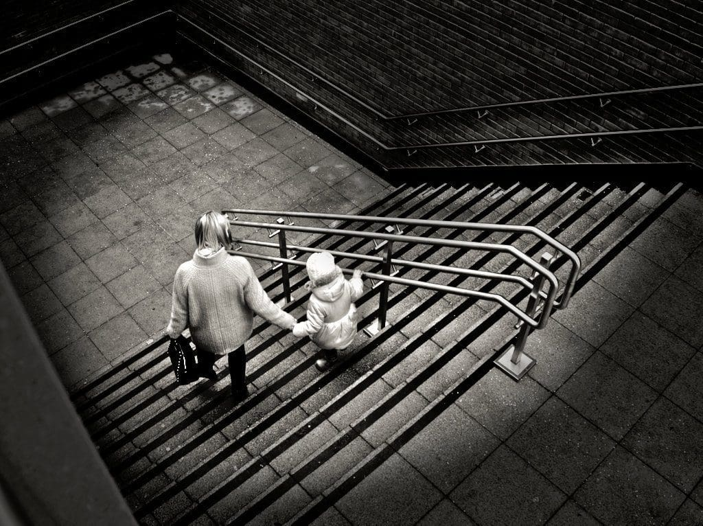 parenthood on steps in lincoln by phlogger