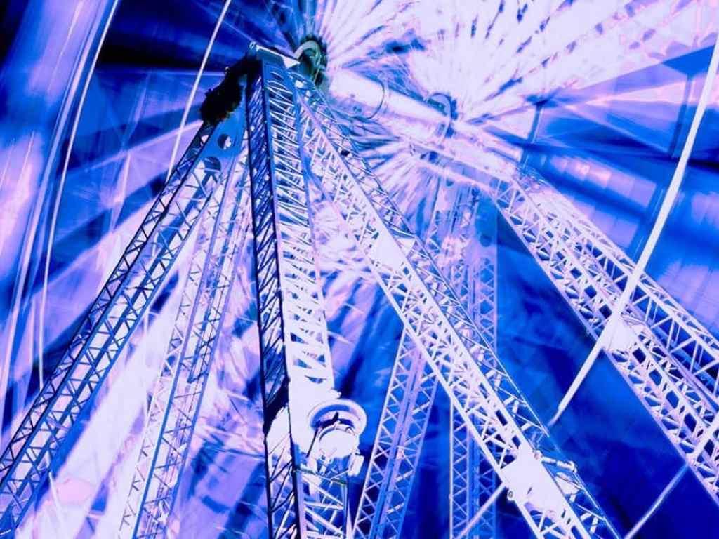 Ferris wheel taken with long exposure