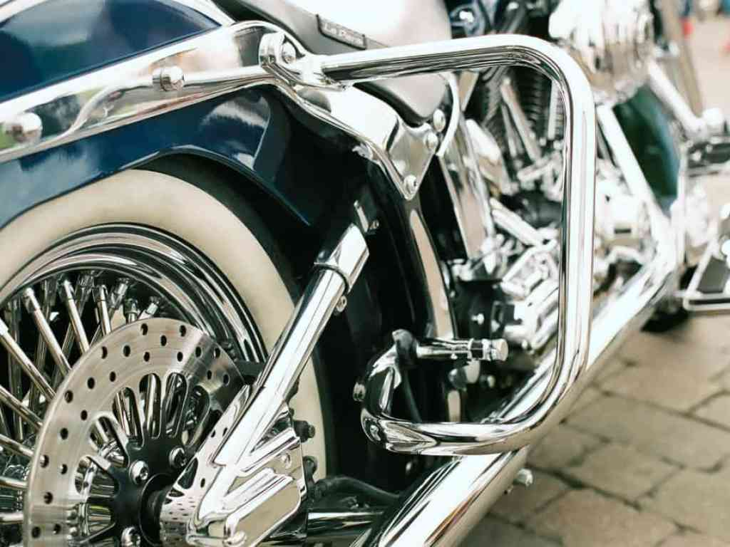 side of harley davidson motorbike