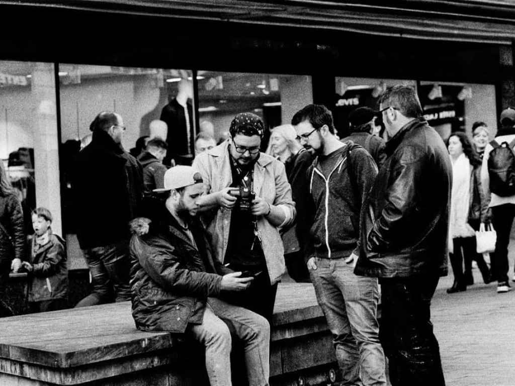 180 days film project group of men street photography