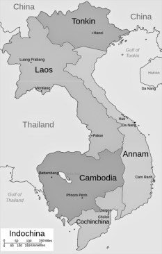 Kaart van Indochina (foto: Bearsmalaysia/CC BY-SA 3.0)