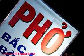 Uithangbord Pho (foto: Pho Vietnam © Kim Le Cao)