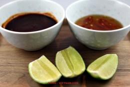 Sauces and lemon (photo: Kim Le Cao © Pho Vietnam)