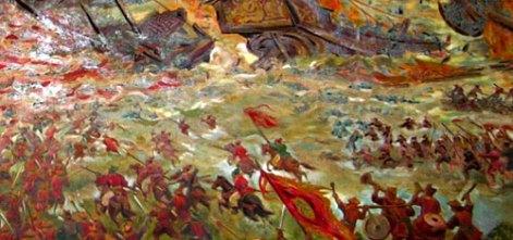 Slag om Bach Dang in 1288 tegen Mongolië (foto: PD-self)
