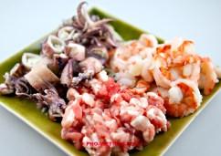 Drie soorten vlees voor Banh xeo (foto: Pho Vietnam © Kim Le Cao)