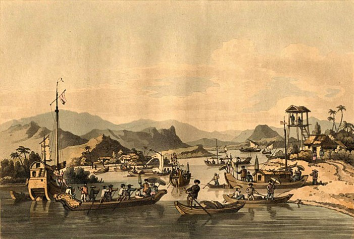 Eerste handelsnederzetting in Faifo, de huidige Hoi An