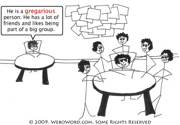 Gregarious Definition Synonyms