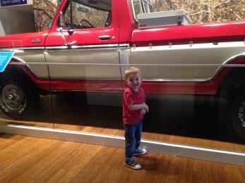 Arthur and Sam Walton's truck