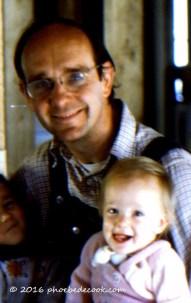 Phoebe and Dad 1977, phoebedecook.com