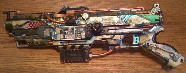 http://chaylar.deviantart.com/art/steampunk-nerf-blaster-177347330
