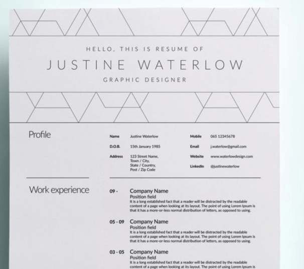 http://weare.guru/13-highly-slick-and-professional-cv-templates/