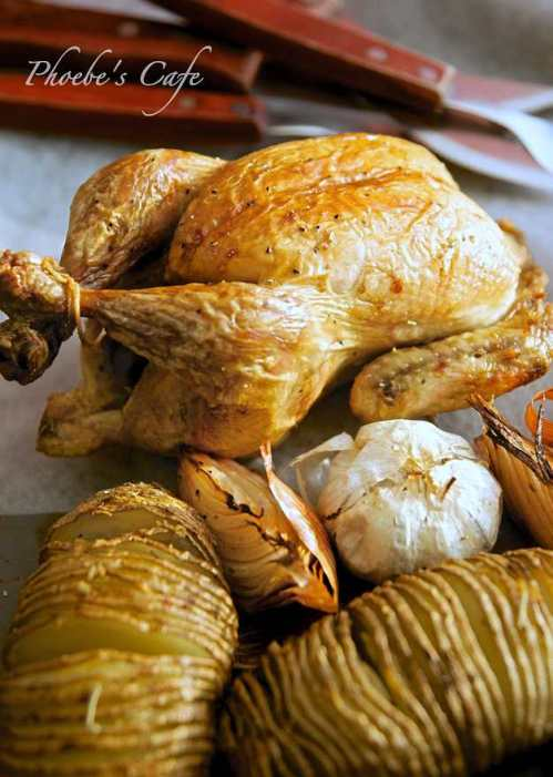 Roast chicken with sesame oil recipe