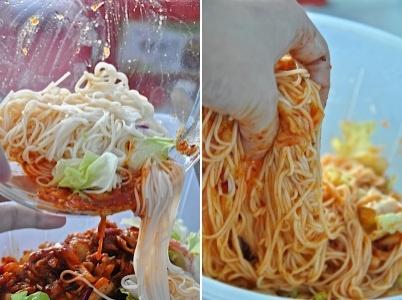 韓国キムチ素麺レシピ