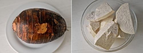 열대 뿌리 채소 타로 부침개 레시피