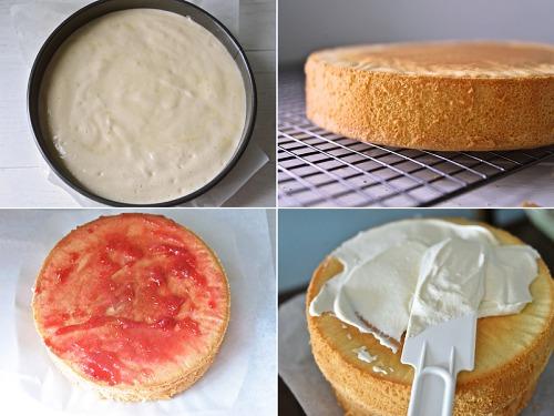 생크림 케익 만들기