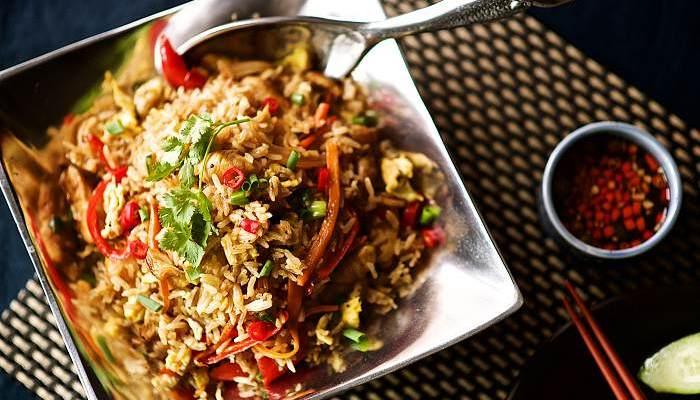 타이 볶음밥 만들기, 영양 만점 닭 가슴살 요리
