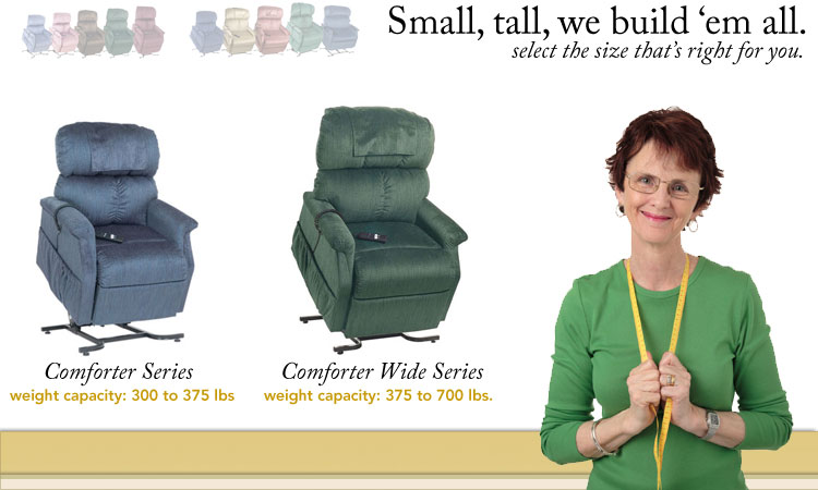 best heavy duty lift chairs folding chair liquidation the comforter series bariatric