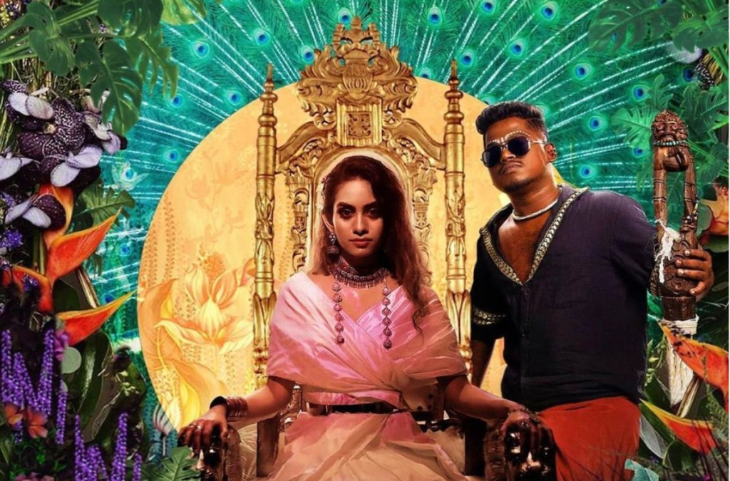 Music artists Dhee (centre) and Arivu (right) in a still from the video for the viral South Indian hit Enjoy Enjaami