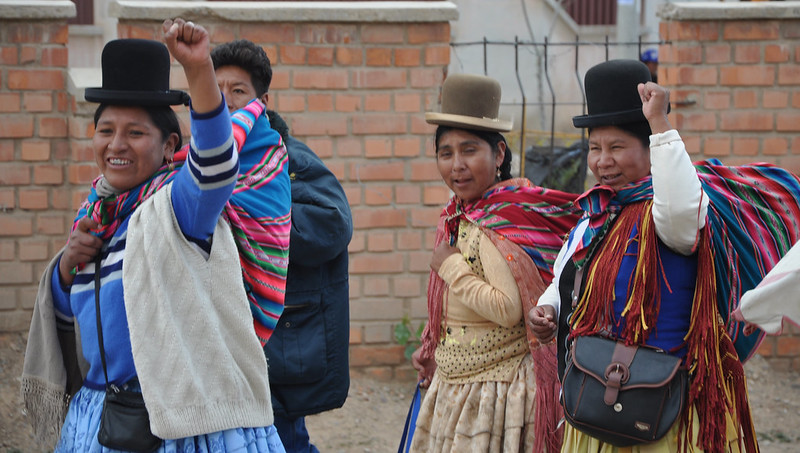 MAS supporters in Bolivia