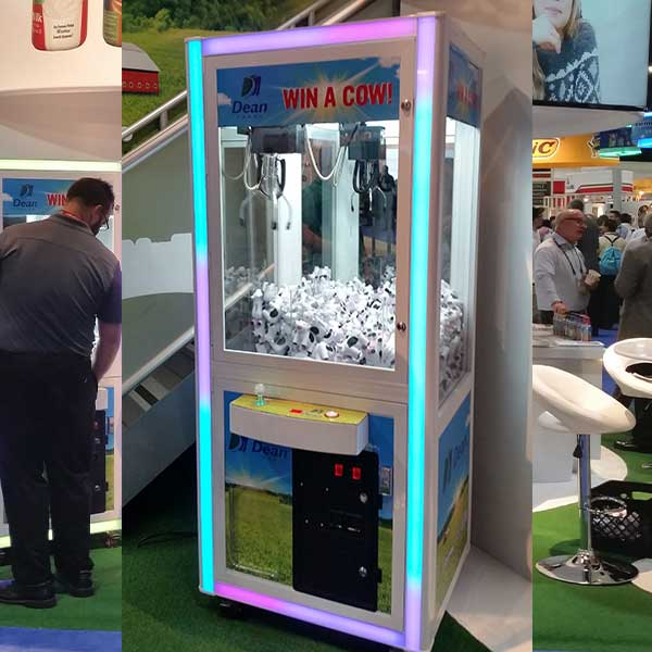Complete Wrap of Prize Claw Machine for Trade Show