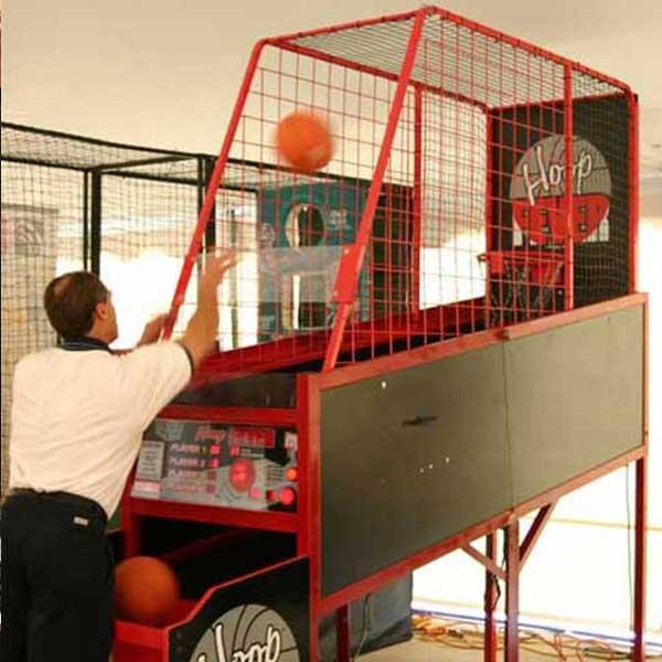 Shooting Hoops with Basketball hoop rental