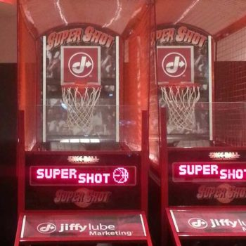 Super Shot Basketball Backboard and panel with Custom Branded Marketing Message