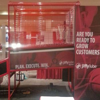 Super Shot Basketball Side View with Custom Branded Marketing Message