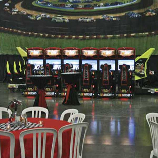 Driving Simulator Team Competition NASCAR linked for head to head racing