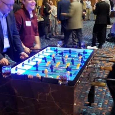LED Foosball Table played at Corporate event