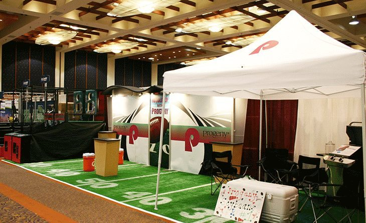 Football Themed Trade Show Booth