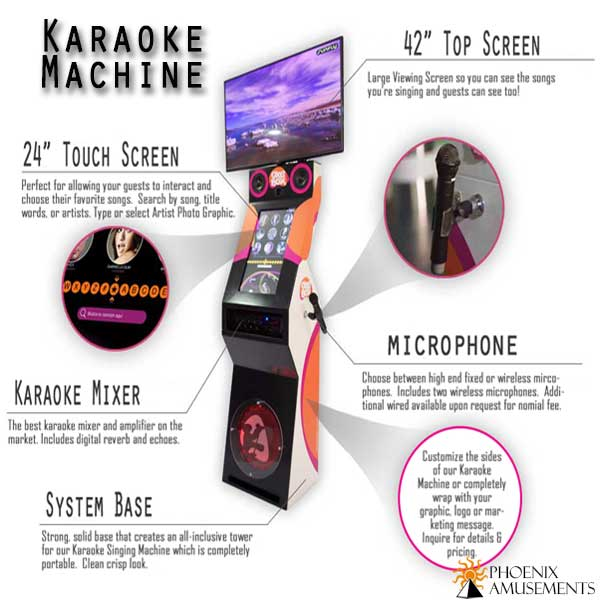 Graphic of Karaoke Machine Features