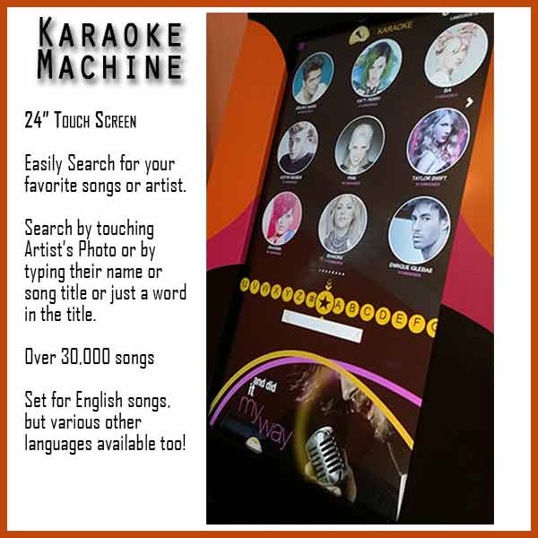 Touch Screen for Karaoke Machine