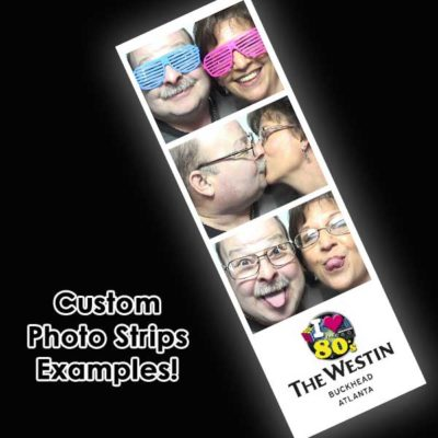 Photo booth strips with Retro Theme