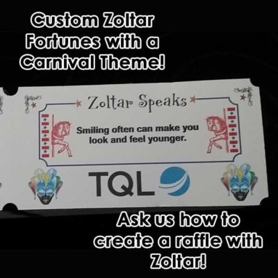 Custom Zoltar Fortunes with Carnival Theme