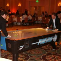Air Hockey Table at Corporate Event