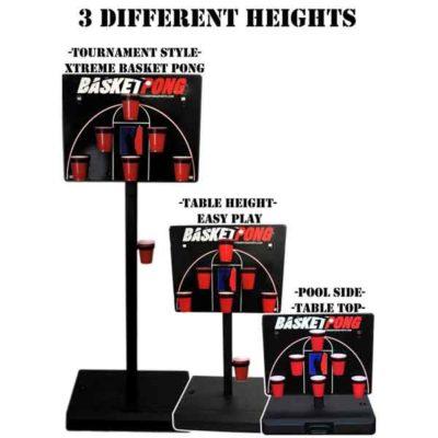 Basketball Pong Adjustable Heights