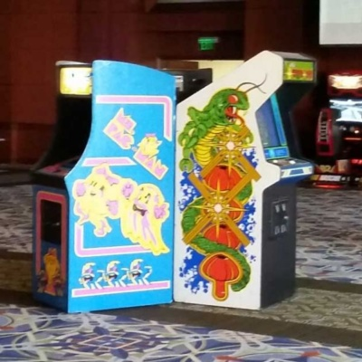 Centipede Arcade with Ms Pac Man Arcade at Corporate Event