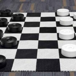 Giant Checkers Outdoor Game Rental