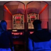 Indoor basketball arcade game
