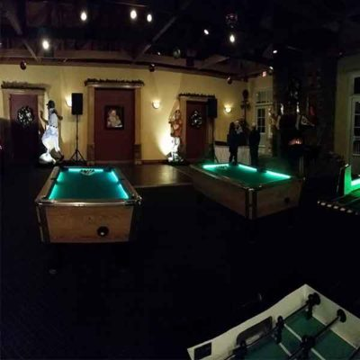 LED Pool Tables Foosball and Putting Challenge Golf