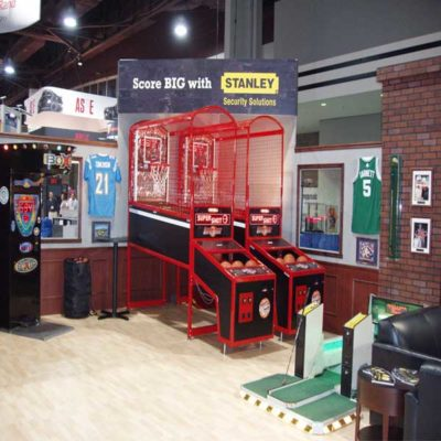 Sports Bar Theme with Boxer, Pop A Shot, and Golf Game