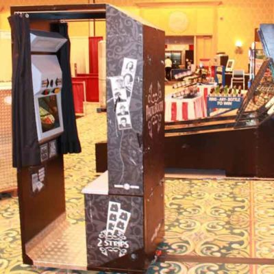 Vintage Photo booth at Tradeshow
