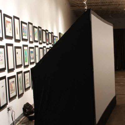 Tradeshow Booth with Virtual Graffiti Wall