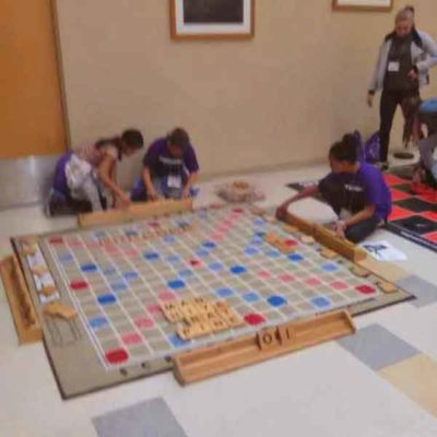Playing Scrabble at School