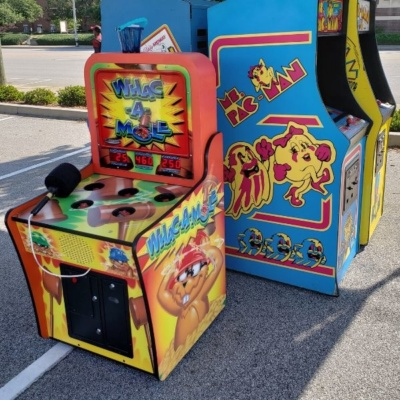 Whac A Mole with Retro Classic Arcades at Corporate Event