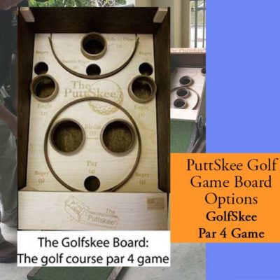 Golf Putting Game Par 4 Board