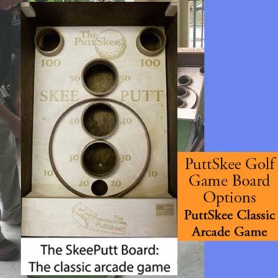 Golf Putting Game Skeeball Board