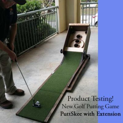 PuttSkee Golf Putting Game with Chipper Extension