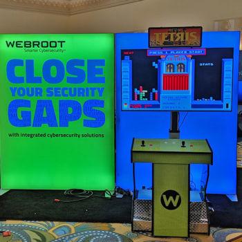 Custom Giant Tetris in Tradeshow Booth